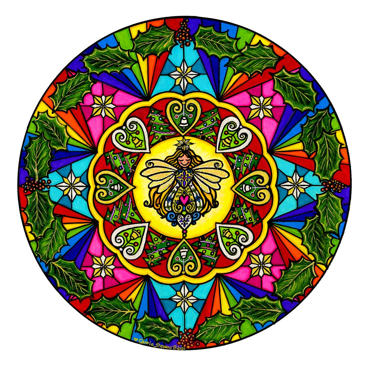 Christmas Angel Mandala Resized