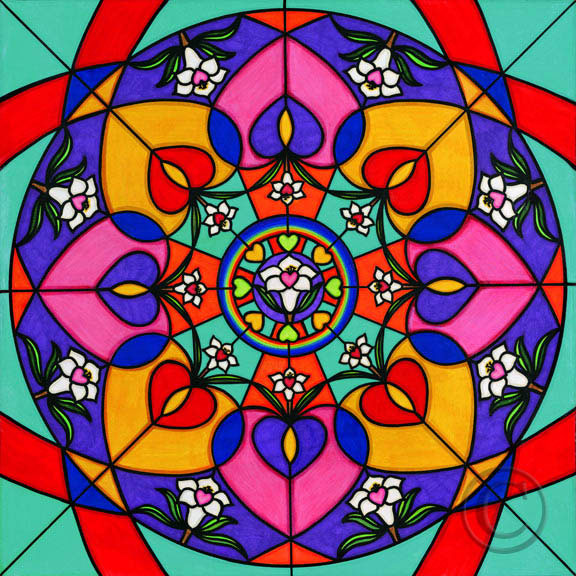 Mandala 07 Hearts And Flowe